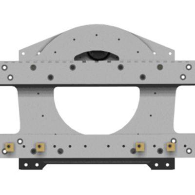 Pritrditev priključka za viličar z rotacijskim bobnom