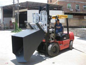 3-tonsko priključno vedro Hyundai Diesel Forklift Tečaji z vilicami in vedro