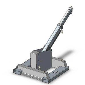 Stroj z žerjavom za viličar s fiksnim pritrdilnim vozičkom
